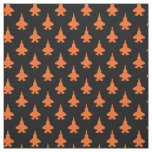 F-35 Lightning 2 Fighter Jets Pattern Orange Fabric