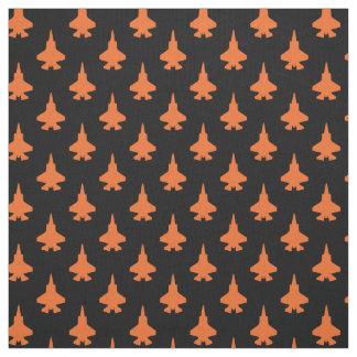 F-35 Lightning 2 Fighter Jets Pattern Orange Fabric