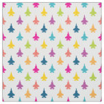 F-35 Lightning Fighter Jets Pattern Pretty Rainbow Fabric