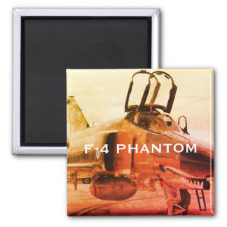 F-4 PHANTOM FIGHTER AIRCRAFT SQUARE MAGNET
