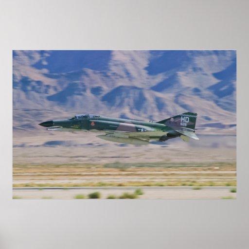 F-4 Phantom II Low Pass Poster