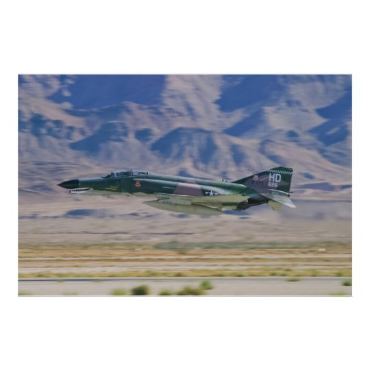 F-4 Phantom II Low Pass Poster