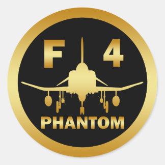 F-4 PHANTOM JET CLASSIC ROUND STICKER