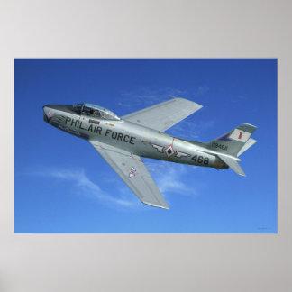 F-86 Sabre Jet Poster
