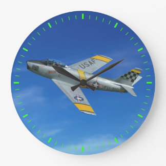 "F-86F ""Beautious Butch"" Large Clock"