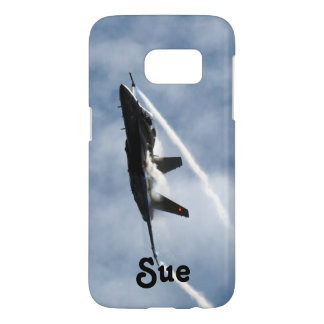 F/A-18 Fighter Jet Plane Air Show for Sue Samsung Galaxy S7 Case