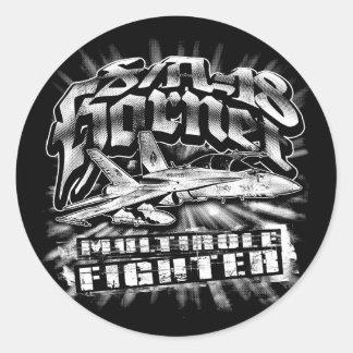 F/A-18 Hornet Classic Round Sticker Sticker