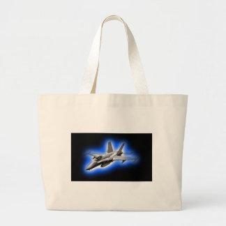 F A-18 Hornet Fighter Jet Light Blue Tote Bag