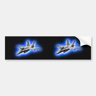 F/A-18 Hornet Fighter Jet Light Blue Car Bumper Sticker