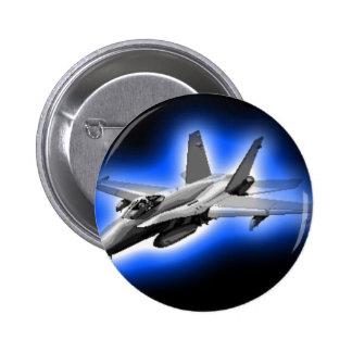 F A-18 Hornet Fighter Jet Light Blue Pin