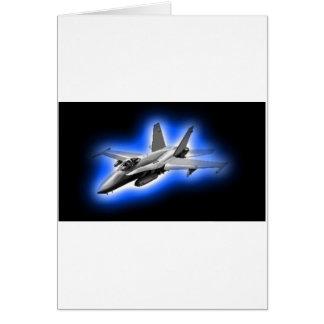F A-18 Hornet Fighter Jet Light Blue Greeting Cards