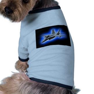 F A-18 Hornet Fighter Jet Light Blue Pet Tshirt