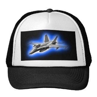 F A-18 Hornet Fighter Jet Light Blue Hat