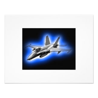F A-18 Hornet Fighter Jet Light Blue Personalized Announcement