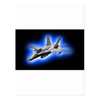 F/A-18 Hornet Fighter Jet Light Blue Postcard