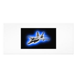 F A-18 Hornet Fighter Jet Light Blue Rack Cards