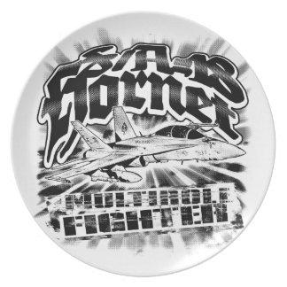 F/A-18 Hornet Melamine Plate Melamine Plate