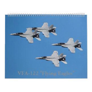 "F/A-18 Super Hornets of VFA-122 ""Flying Eagles"" Wall Calendar"