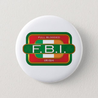 F B I Irish 2 Inch Round Button