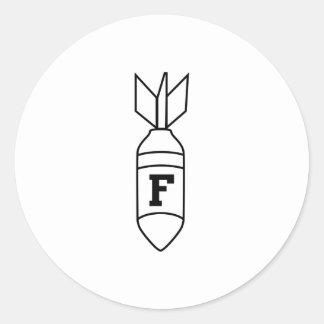 F Bomb Classic Round Sticker