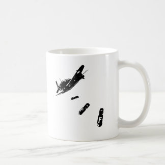 F-Bomb Diver Black Mugs