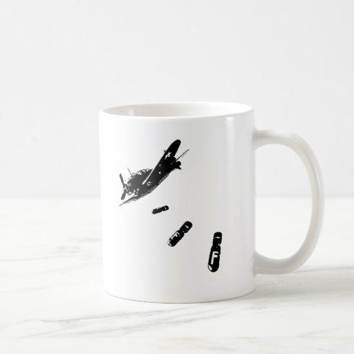 F-Bomb Diver (Black) Mugs