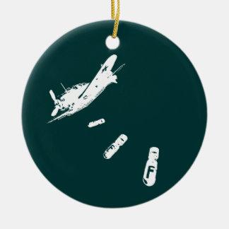 F-Bomb Diver (White) Ceramic Ornament