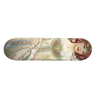 F. Champenois Imprimeur-Éditeur by Alfons Mucha Skate Board Decks