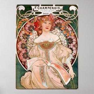 F. Champenois Imprimeur-Editeur Poster