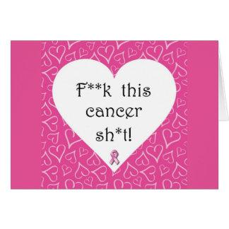 F*ck Cancer Card