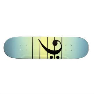 F clef skate board decks