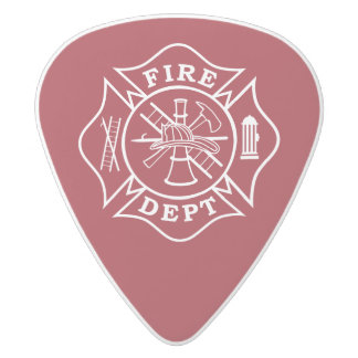 F.D. Medium Gauge  .80mm Guitar Picks, Delrin White Delrin Guitar Pick