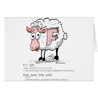 F Ewe with definition Card