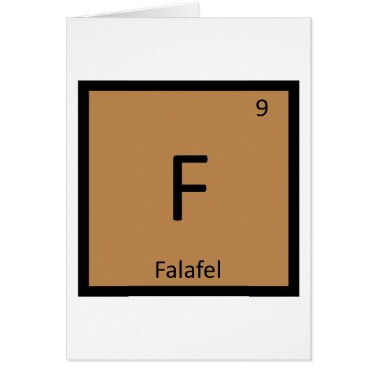 F - Falafel Chemistry Periodic Table Symbol Card