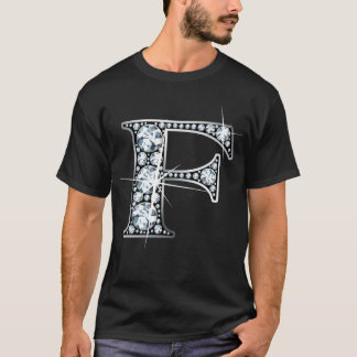 """F"" Faux-""Diamond Bling"" T-Shirt"