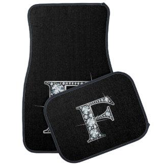"F Faux-""Diamond"" Monogram Floor Mat"