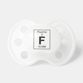 F - Fluorine Baby Pacifier