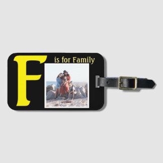 F for Family Luggage Tag