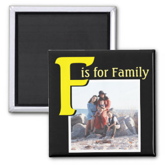 F for Family Square Magnet