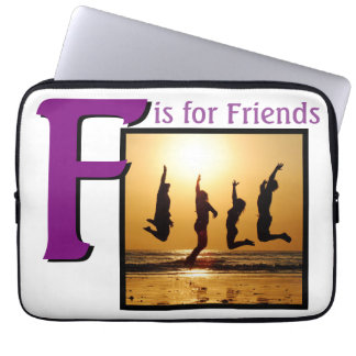 F for Friends Laptop Sleeve