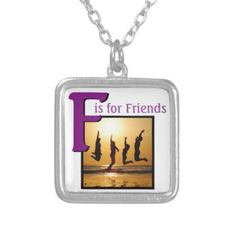 F for Friends Silver Plated Necklace