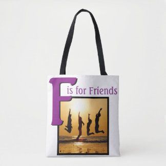 F for Friends Tote Bag