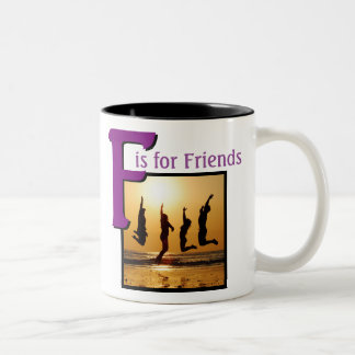 F for Friends Two-Tone Coffee Mug