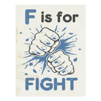 F is for Fight Postcard