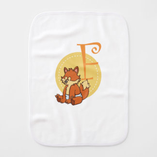 F is for Fox Burp Cloth