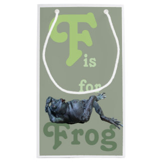 F is for Frog Small Gift Bag
