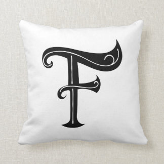 F Letter Initial Pillow