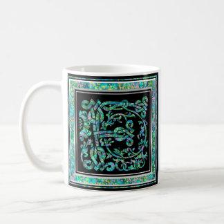 """F """"Masselle Blue"""" Custom Monogram Mugs"""