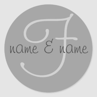 """F"" monogram label - personalize first names"