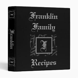 F Monogram Recipe Book 3 Ring Binder